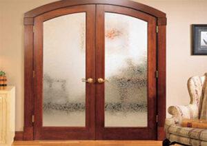 Двукрила стъклена портална врата, тип Арка