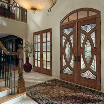 Остъклени врати в класически стил