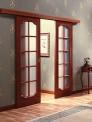 Стъклена врата с плъзгащи панели