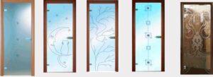 Врати, изцяло стъклени, с алуминиеви каси
