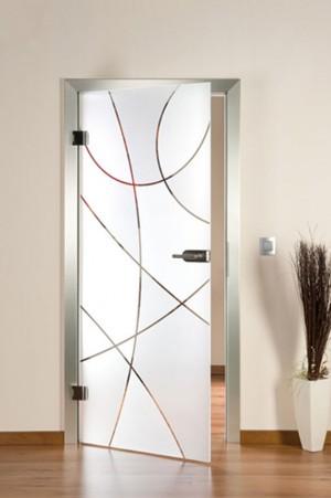 дизайнерска стъклена врата