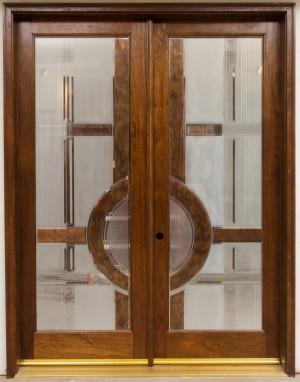 дървена двукрила луксозна врата