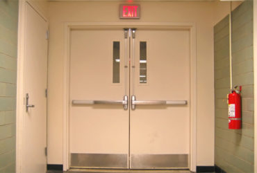 двукрила пожароустойчива врата