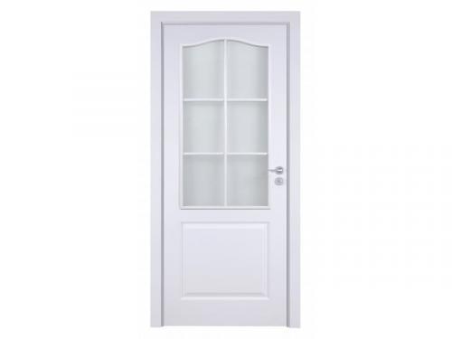 интериорна-врата-Фортис-бяло-стъкло